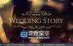 AE模板浪漫婚礼包装高贵金色片头照片相册视频动画制作