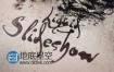 AE模板水墨飞溅油渍涂料素面复古幻战争灯片展示片头宣传