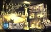 AE模板公司年会活动颁奖典礼大气金色粒子包装动画