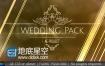 AE模板婚礼爱情浪漫相册动画黄金粒子视差颁奖典礼效果