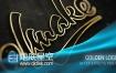 AE模板黄金标志logo粒子丝绸片头动画