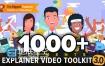 AE模板1000卡通人物推广服务演示动画效果包