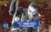 AE模板水墨油漆人物演员定格画面摇滚音乐视频游戏电影预告片