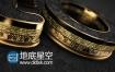 AE模板三维黑金黄金标志logo演绎片头动画