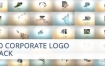 AE模板30种企业公司标志动画logo演绎百叶窗转换片头包装