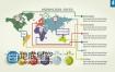 AE模板信息柱状图饼状图信息图表数据动画