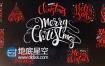 AE模板10个手绘新年圣诞节文字动画英文标题