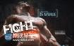 AE模板拳击体育运动宣传片头动作战斗电影预告片