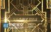 AE模板E3D奢华黄金边框颁奖典礼豪华三维标题动画