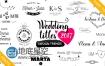 AE模板19种婚礼标题动画新郎新娘名字徽章设计
