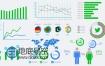 AE模板数据统计动画表企业宣传片信息图表点线柱状图分析
