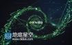 AE模板DNA链粒子光线流动高科技炫酷科幻HUD片头宣传动画
