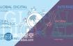 AE模板互联网全球服务移动科技地球MBE风格数字动画宣传演示
