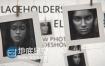 AE模板E3D动画相册展示悬挂拍立得照片视频动画