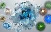 AE模板真实水或卡通风格效果液体飞溅气泡演绎标志饼动画