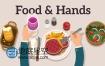 AE模板MG动画解说食物特色节目餐厅美食介绍视频手势动画