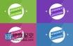 AE模板扁平化LOGO片头标签图形风格标题动画