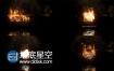 AE模板烟雾火花灰尘特效火焰燃烧文字标志片头动画