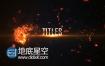 AE模板4K史诗级震撼黑暗火焰爆炸冲击文字标题动画