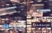 AE模板LED屏幕墙照片拼贴动态展示LOGO动画