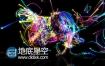 AE模板抽象概念多彩颗粒霓虹灯唯美光线logo演绎动画