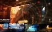 AE模板高科技企业空间站飞船未来科技科幻星系爆炸特效动画