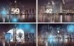 AE模板2018新年倒计时午夜时钟烟花新的一年特效动画