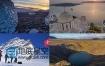 30个超清延时实拍自然山川星空极光国家城市建筑车流人流日夜景