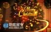 AE模板华丽圣诞节日新年祝福粒子特效片头动画