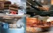 高清视频西餐美食肉卷汉堡鸡蛋土豆视频
