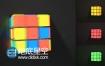 AE模板多彩立方体变换成魔方logo演绎片头动画