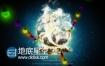 AE模板五颜六色彩灯圣诞节文字logo演绎动画
