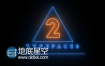 AE模板可以自定义形状路径的霓虹灯发光文本动画效果