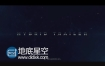 AE模板大气科幻电影宣传预告片片故障动画开场视频