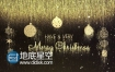 AE模板黄金色粒子圣诞节祝福新年节日快乐