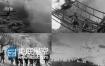 红军长征打仗战斗炮火轰炸高清视频