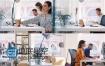 实拍高清视频企业商务IT人士工作视频画面