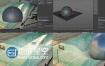 C4D视频教程碰撞对象与篮球场建模渲染