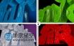AE模板E3D制作的沙尘闪烁三维文字动画效果