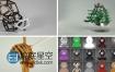 C4D Octane渲染器4K分辨率纹理金属木纹矿物塑料材质预设包