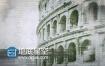 AE模板复古水彩水墨油漆雕刻历史记录动画效果