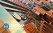 AE模板高楼大厦街道反射三维标志logo演绎动画特效