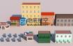 C4D教程低多边形楼房建模教程