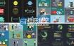 AE模板企业公司商务宣传介绍货币信息图表平面设计销售MG动画元素包