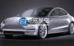 模型 特斯拉汽车3D模型 SQUIR – Tesla Model 3 2018