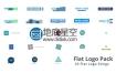 AE模板23种LOGO演绎图形动画标志企业宣传现代片头