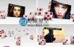 AE模板3D立方体骰子屏幕显示图文宣传动画