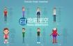 AE模板二维卡通人物角色绑定解说宣传推广MG动画包(带音效+使用教程)