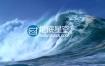 视频素材:实拍震撼大气大海海浪涌动拍打视频