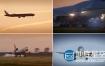 实拍素材:震撼炫酷飞机起飞降落机场视频